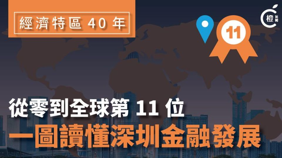 【一圖睇晒】從零到全球第11位-讀懂深圳金融發展路