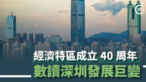 【一圖睇晒】經濟特區成立40周年-數讀深圳發展巨變