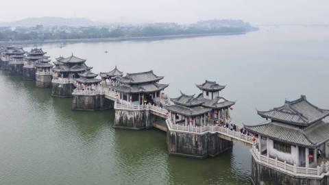 【嶺南建築】世界上最早的開合橋在潮州?「中國四大古橋」之一廣濟橋