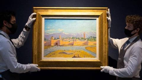 【熱話】邱吉爾親繪二戰風景畫高價拍出-曾因政壇失意潛心藝術