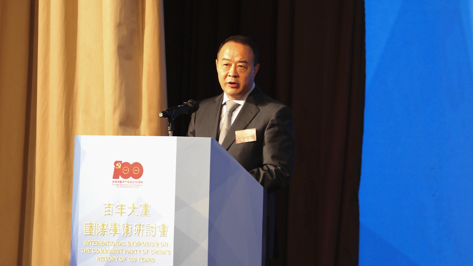 【有片】毛超峰:中國共產黨始終維護香港繁榮穩定 致力推動「一國兩制」行穩致遠