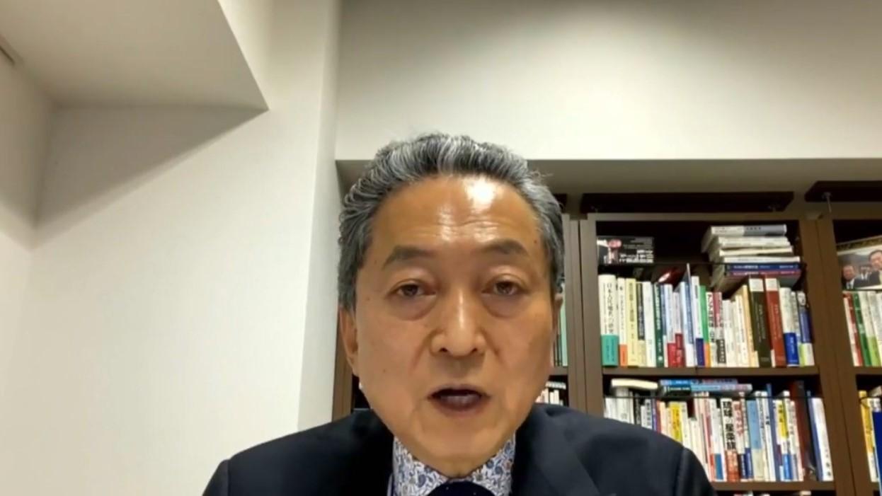 【有片】鳩山由紀夫:中國共產黨時刻和中國人民站在一起
