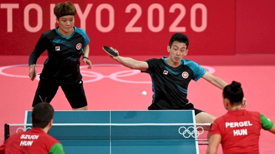 港隊乒乓球混雙黃鎮廷杜凱琹晉級八強 僅花28分鐘4:0擊敗匈牙利組合