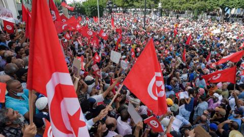 突尼斯總統擬修法擴權 反對派斥「政變」民眾上街示威