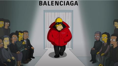 The-Simpsons登上BALENCIAGA時尚T台?聯名動畫《The-Simpsons|BALENCIAGA》以動漫角色服飾展示新作