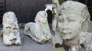 【禾稈冚珍珠】以為石像是仿品放置花園15年 拍賣驚覺是市值逾200萬的埃及古物