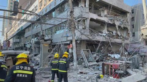 【有片】遼寧瀋陽餐廳爆炸至少三死33傷 窗戶全毀街上布滿建築殘骸